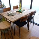 ラスティックスタイルのナラ材の古木のお買い得食卓5点セット!クッパ135食卓テーブル,クッパ152食卓テーブルブランド名「イージーライフ」,「クラッシュ」 激安 アウトレット今なら送料無料